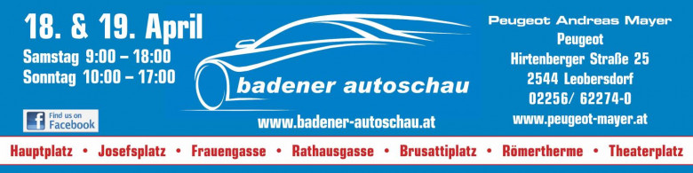 Peugeot MAYER auf der Badener Autoshow